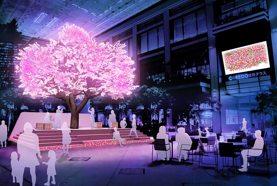 SAKURA FES NIHONBASHI THE TREE OF LIGHT