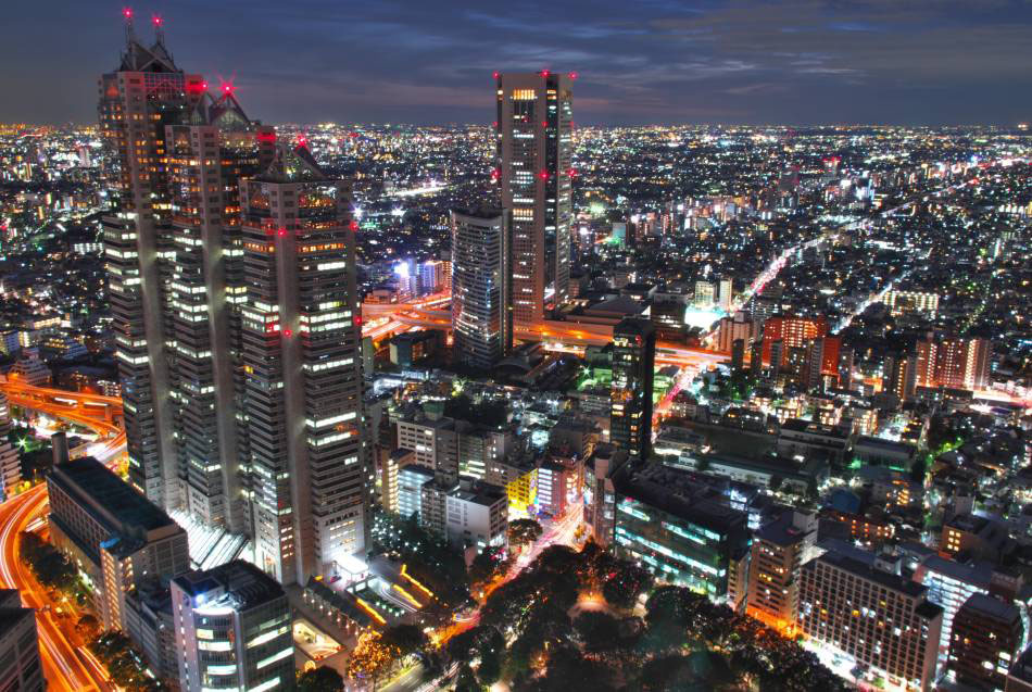 Night view from Tokyo Metropolitan Government Building