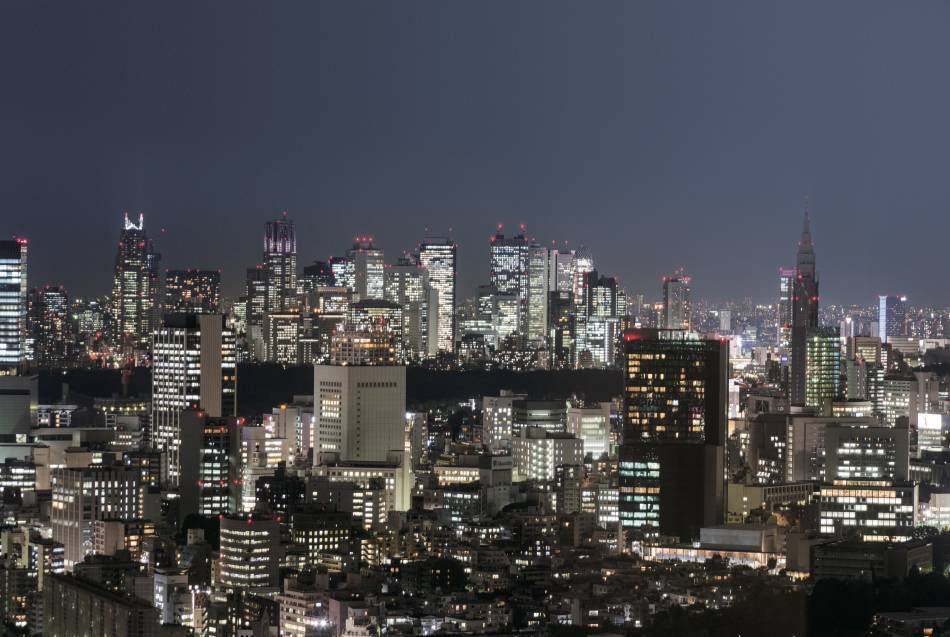Night view from the Yebisu Garden Place