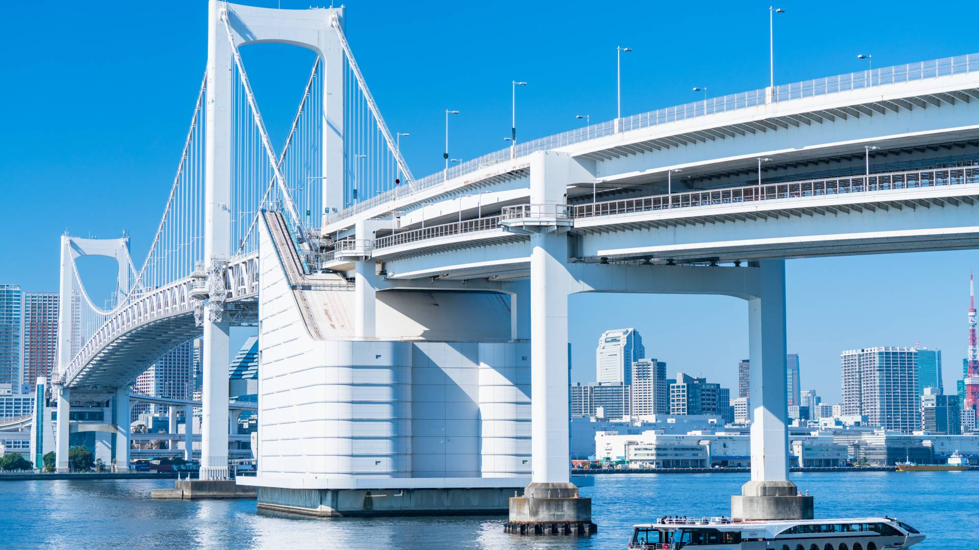 Rainbow Bridge and Oedo Onsen