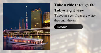 Take a ride through the Tokyo night view